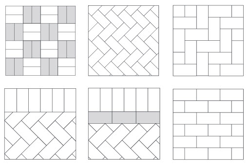 Different block paving designs from Driveways Gloucester Gloucestershire UK 3