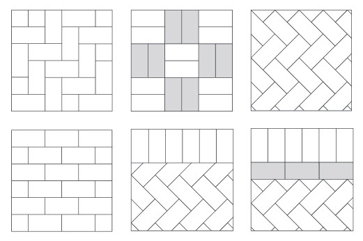 Different block paving designs from Gloucester Driveways Gloucestershire UK 1